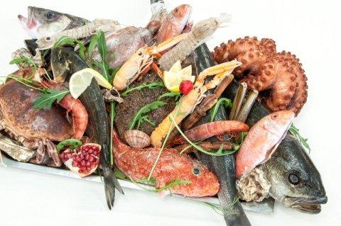 menù pesce su ordinazione