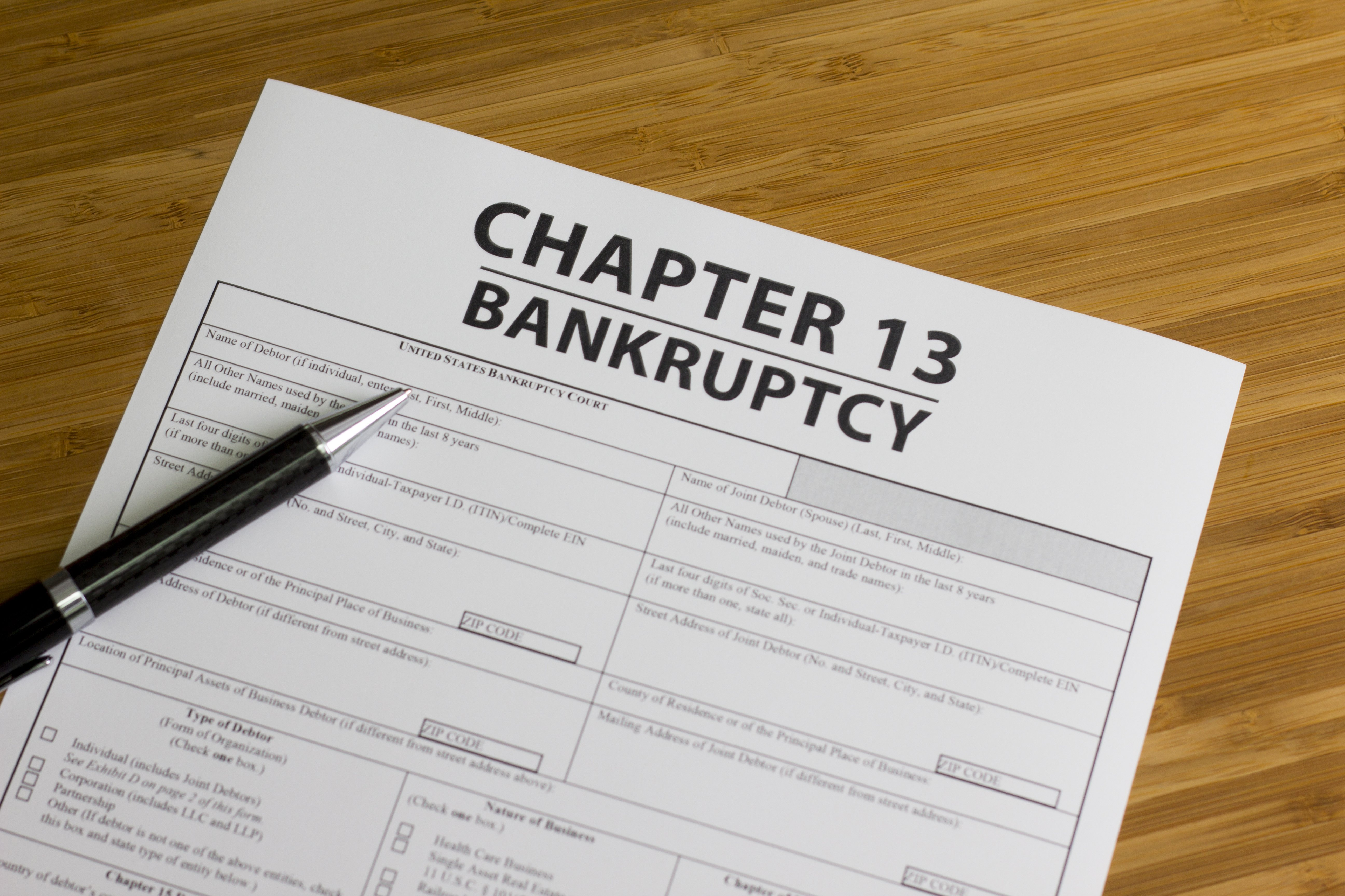 Chapter 13 Bankruptcy page