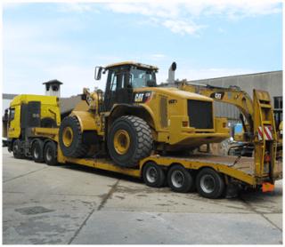 spostamento di attrezzature edili
