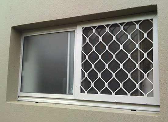 security screen on bathroom window