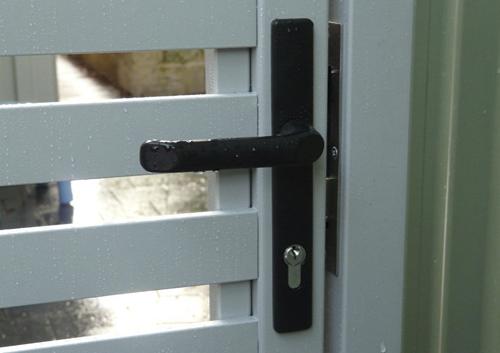 door handle of gate