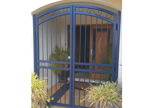 security gate in front of house