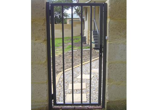 pedestrian steel gate