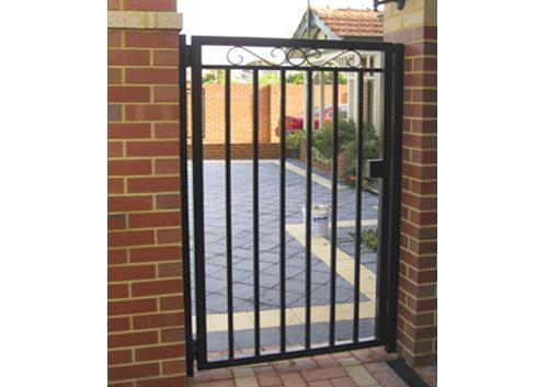 pedectrian gate brick fence