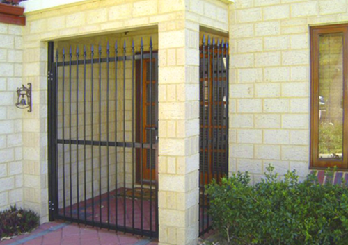 black grille and gate