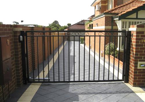 automatic gate in complex
