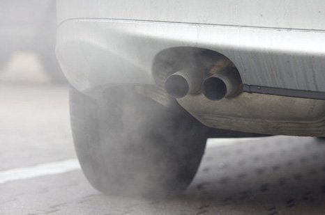 car exhaust before servicing