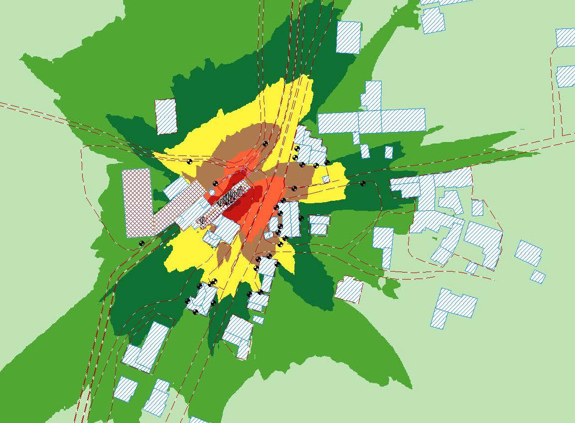 esempio di mappatura acustica con l'utilizzo del software IMMI