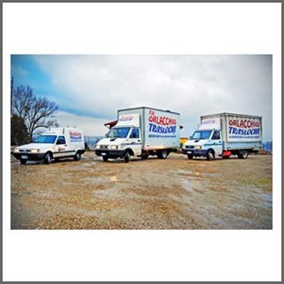 Tre furgoni ditta Orlacchio