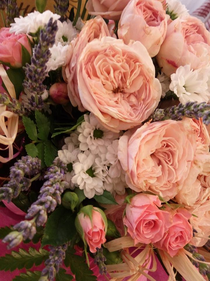 delle rose di diversi colori viste da vicino