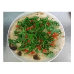 pizza bianca con rucola