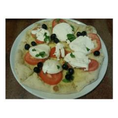 pizza mozzarella e pomodoro