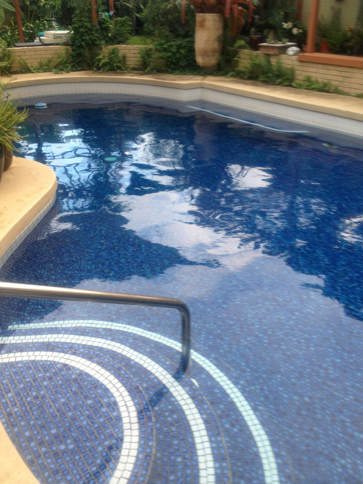 Residential pool in Kailua, HI before analysis and cleaning
