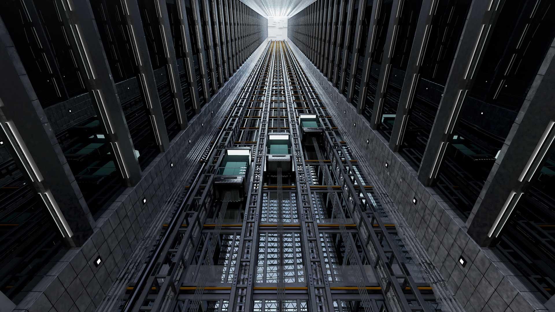 vano ascensore esterno