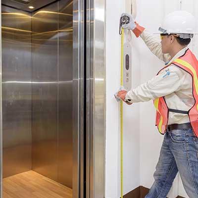 controllo spazio per pulsantiera ascensore