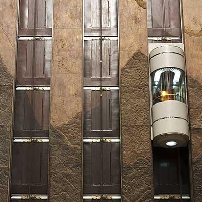 ascensore a vetro da esterno