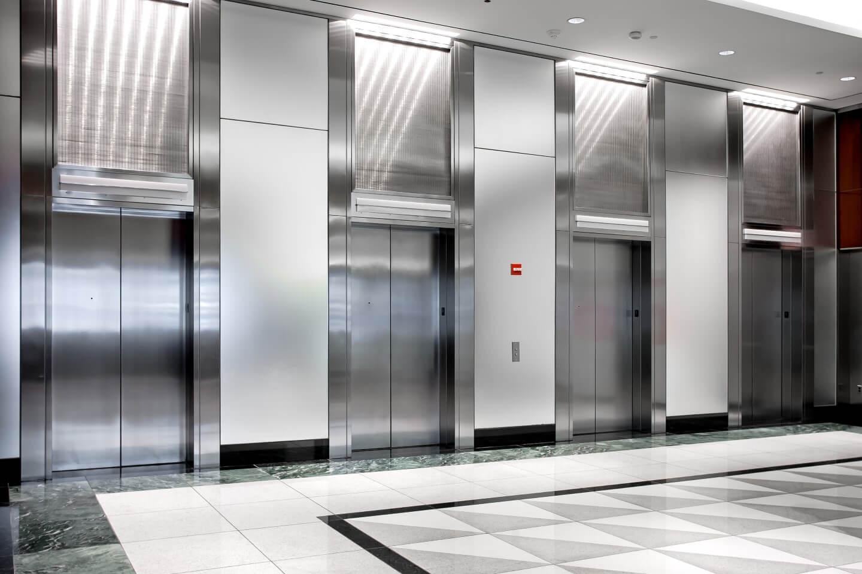 stanza d'attesa ascensori