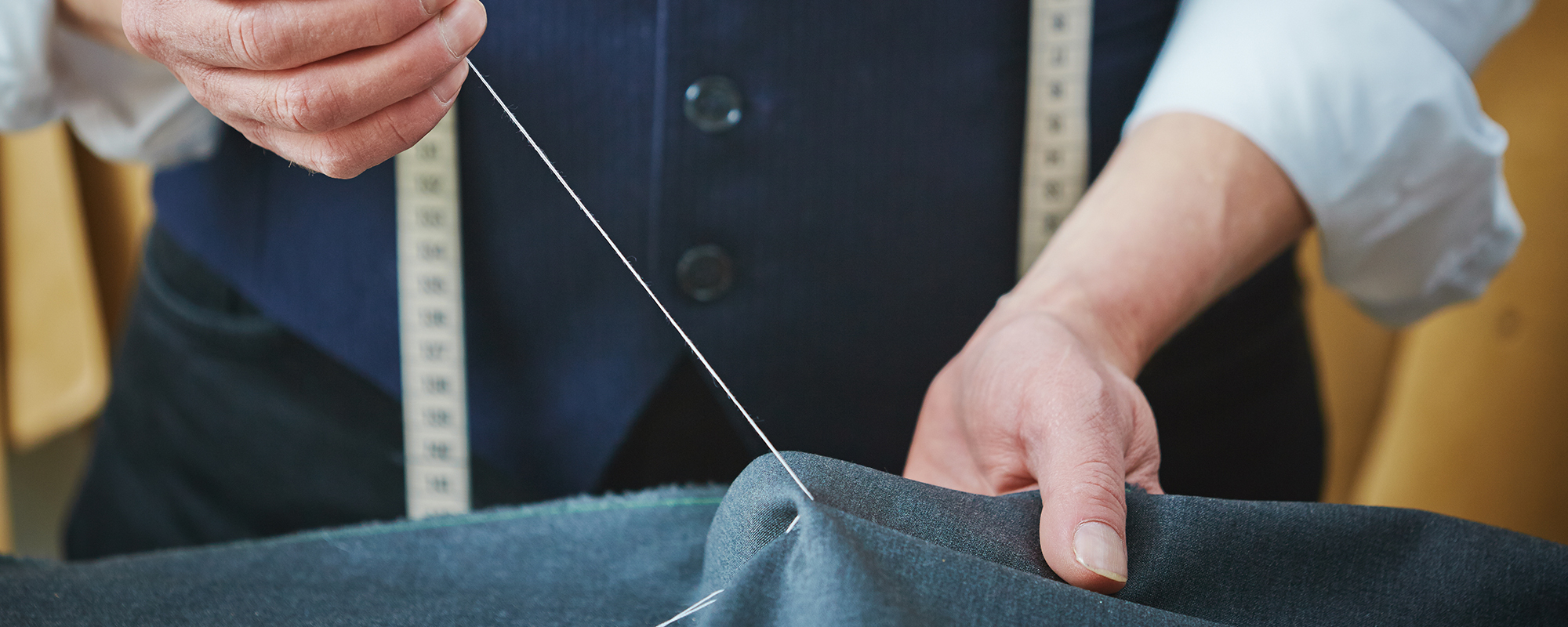 Professional altering the clothing