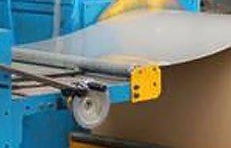 sheet metal de-coiler machine