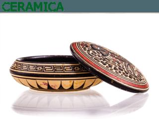 ciotola in ceramica prodotta in forno
