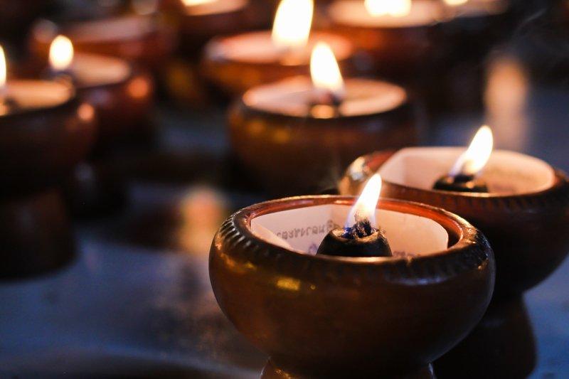 candele del corredo funebre