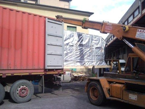 stivaggio container