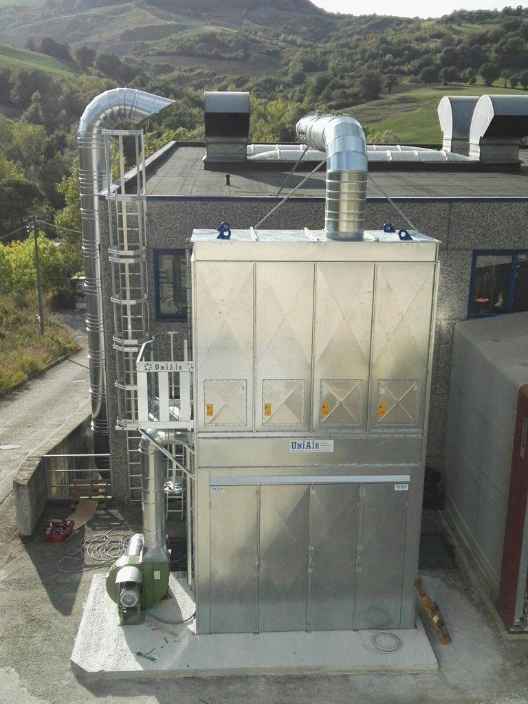 Filtri con sistemi di pulizia meccanica