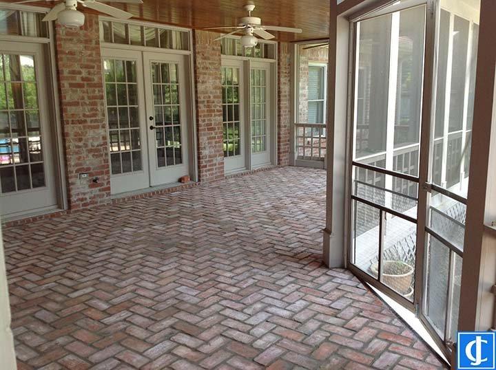 Brick paver patio Chenal