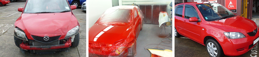 A car being repaired