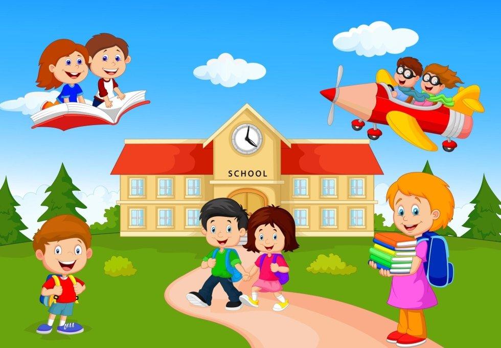 Un disegno di una scuola