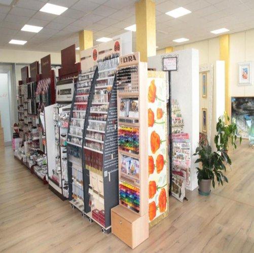 Interni del negozio Morganarte Di Morgana Lazzara in Puglia