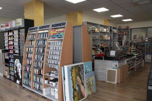 Interni del negozio MorganArte a Nardò