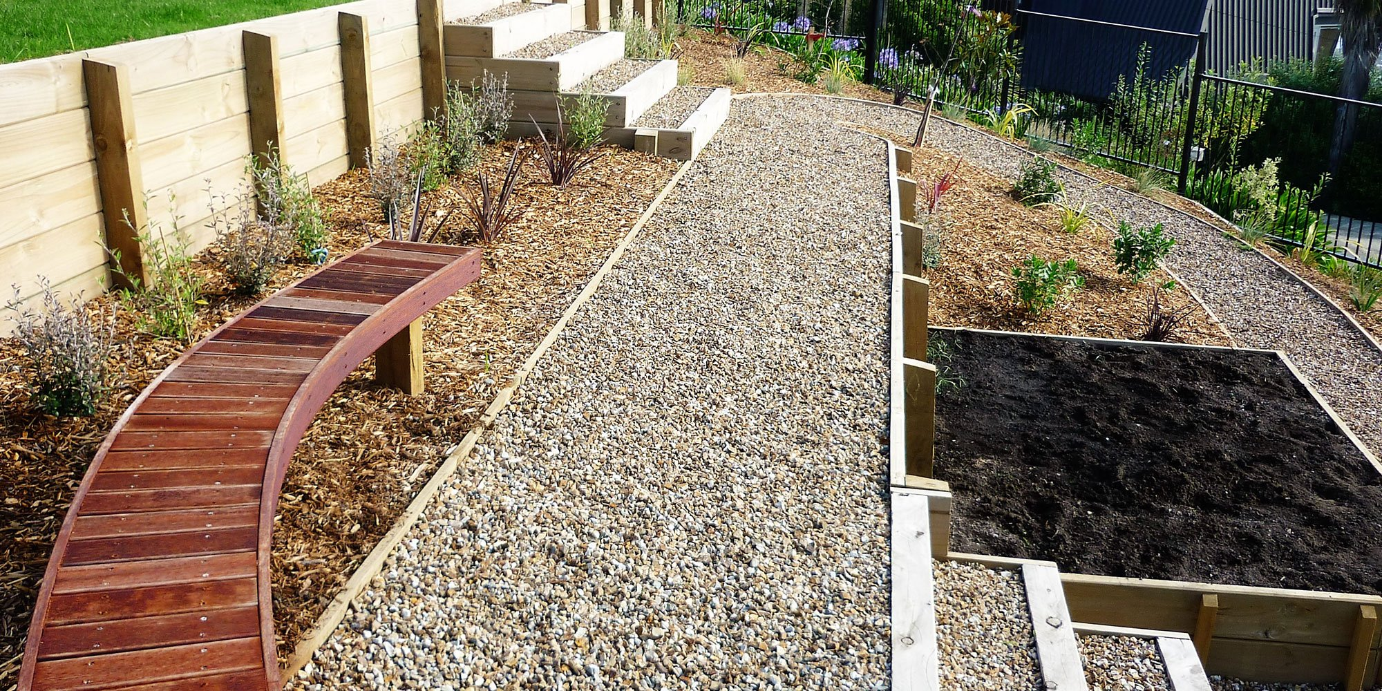 L j landscape contractors landscaping christchurch for Landscape construction christchurch