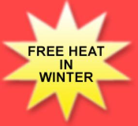 Free heat in winter banner