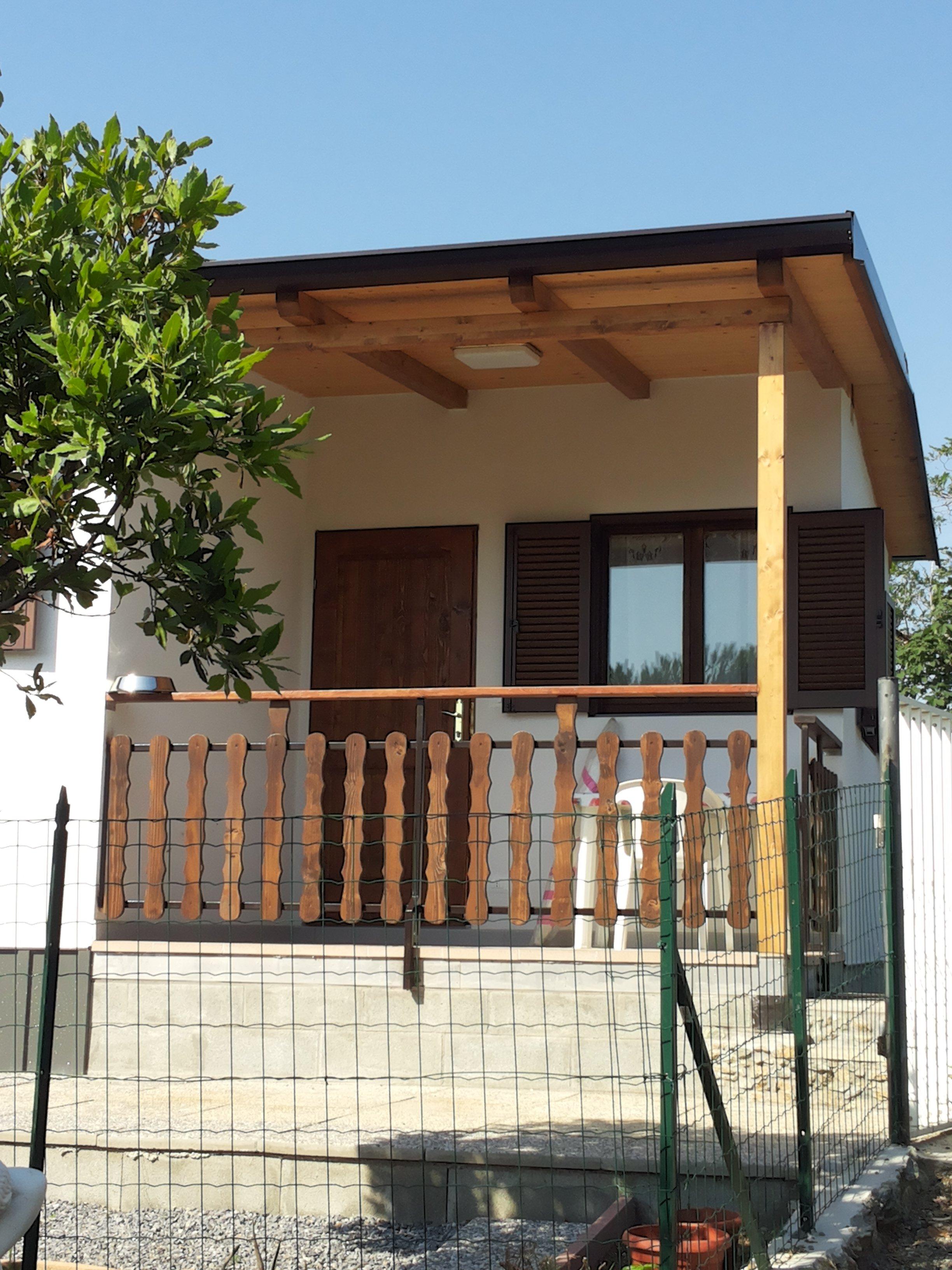 veranda esterna del Bungalow terminato