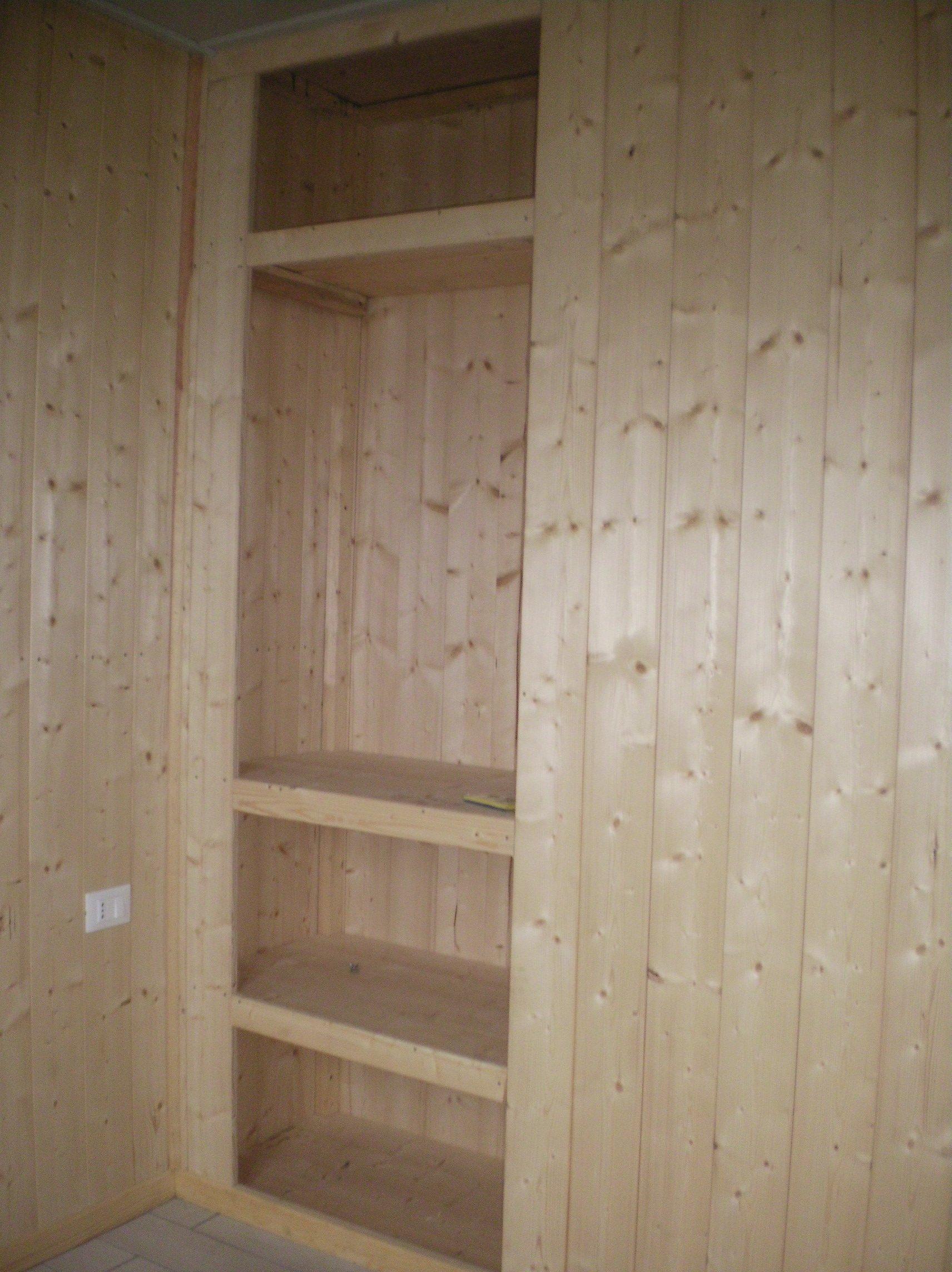 armadio del Bungalow di legno