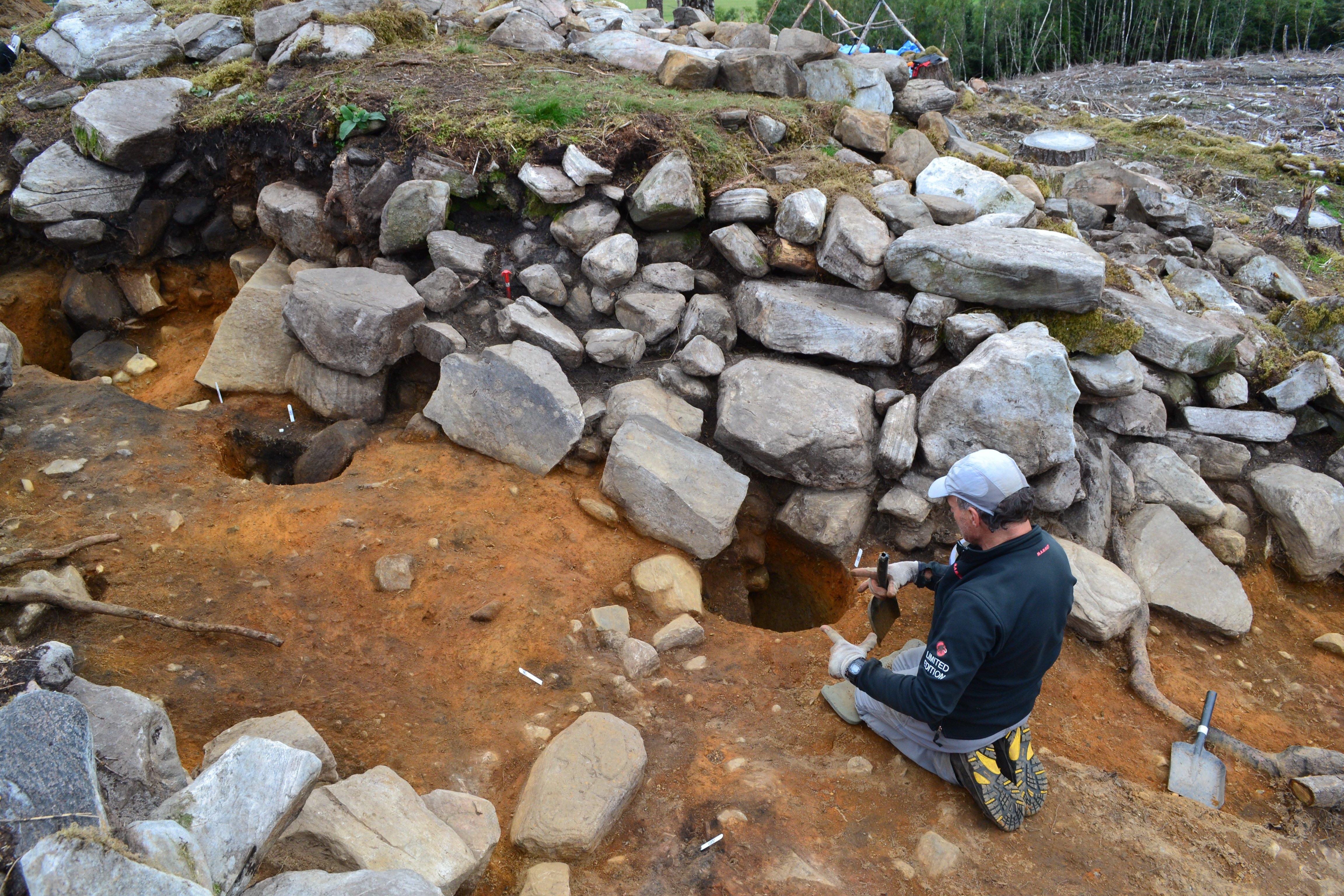 Excavating post holes