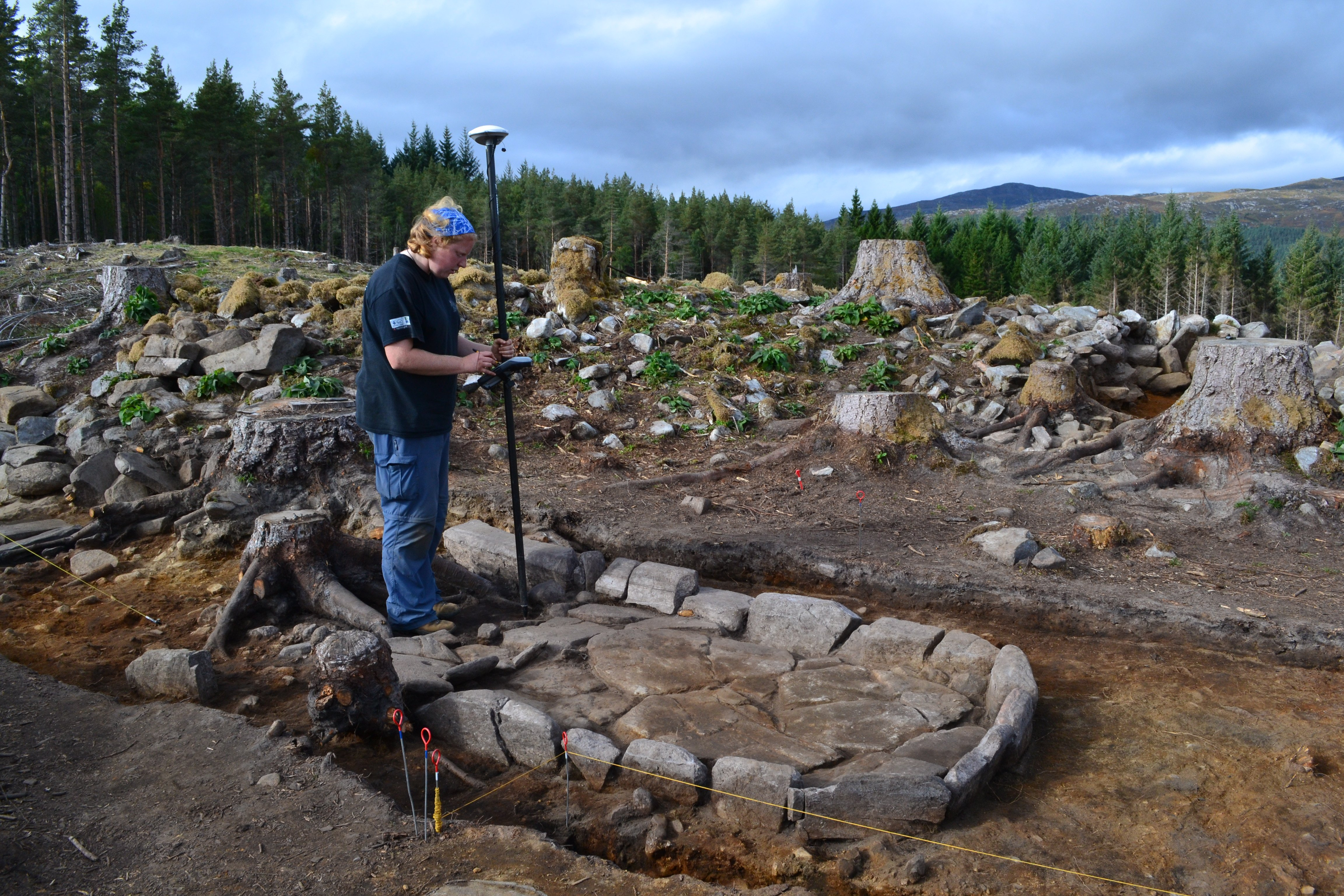 Recording a large Iron Age hearth