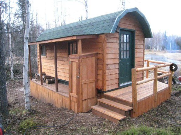 Shed constructed on customer's property in Anchorage, AK