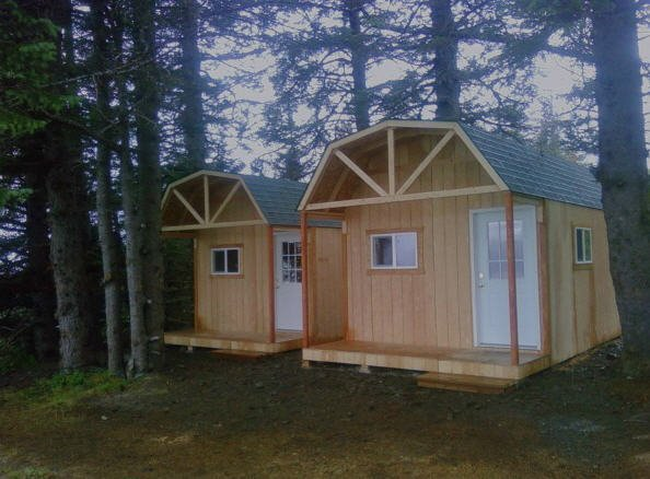 Customized shed constructed on customer's property in Anchorage, AK