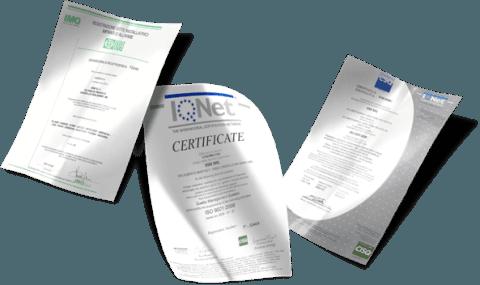 certificazioni SSB srl