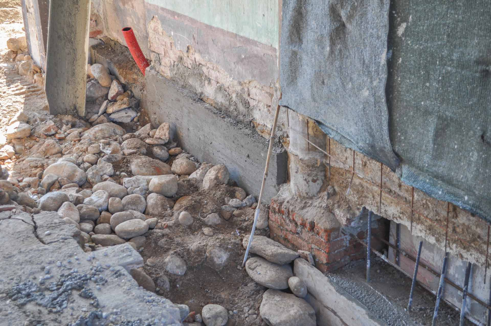 underpinning of a building