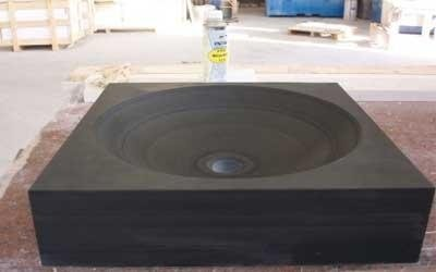 Black washbasin