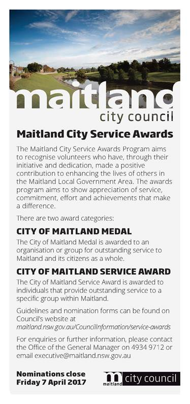 maitland city service awards