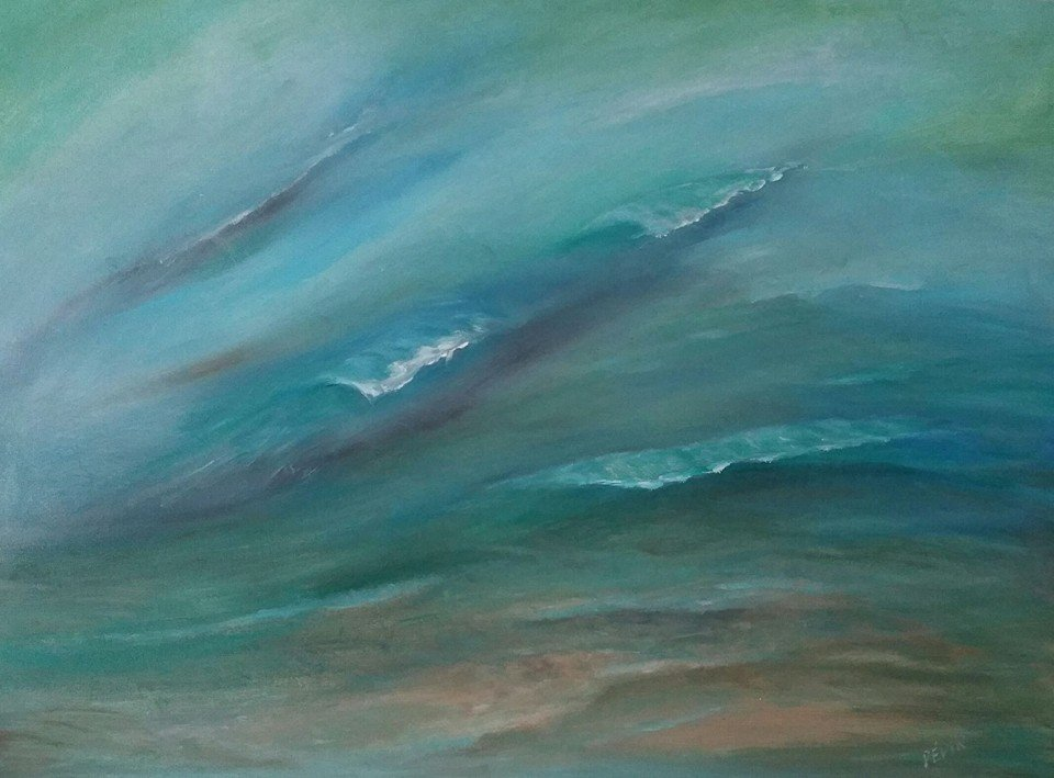 Tranquil Waves Ocean Painting