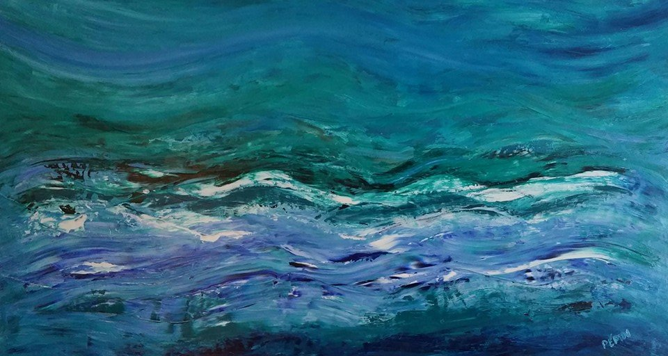 Waves Abstract Painting