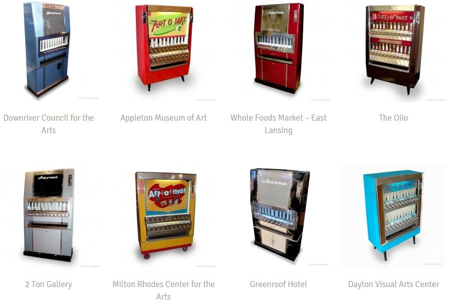 art-o-mat cigarette machines used for Art