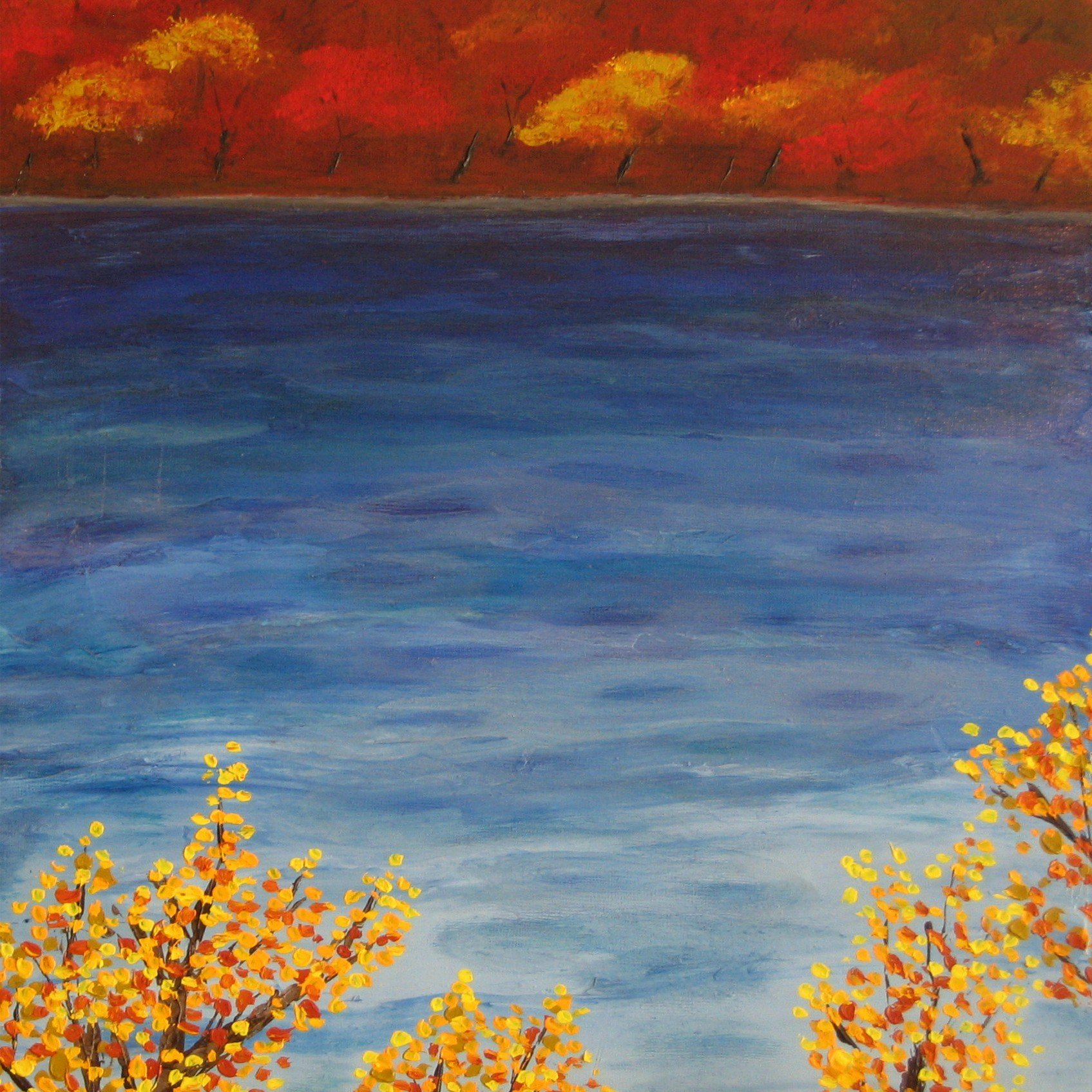 Water in Autumn Painting