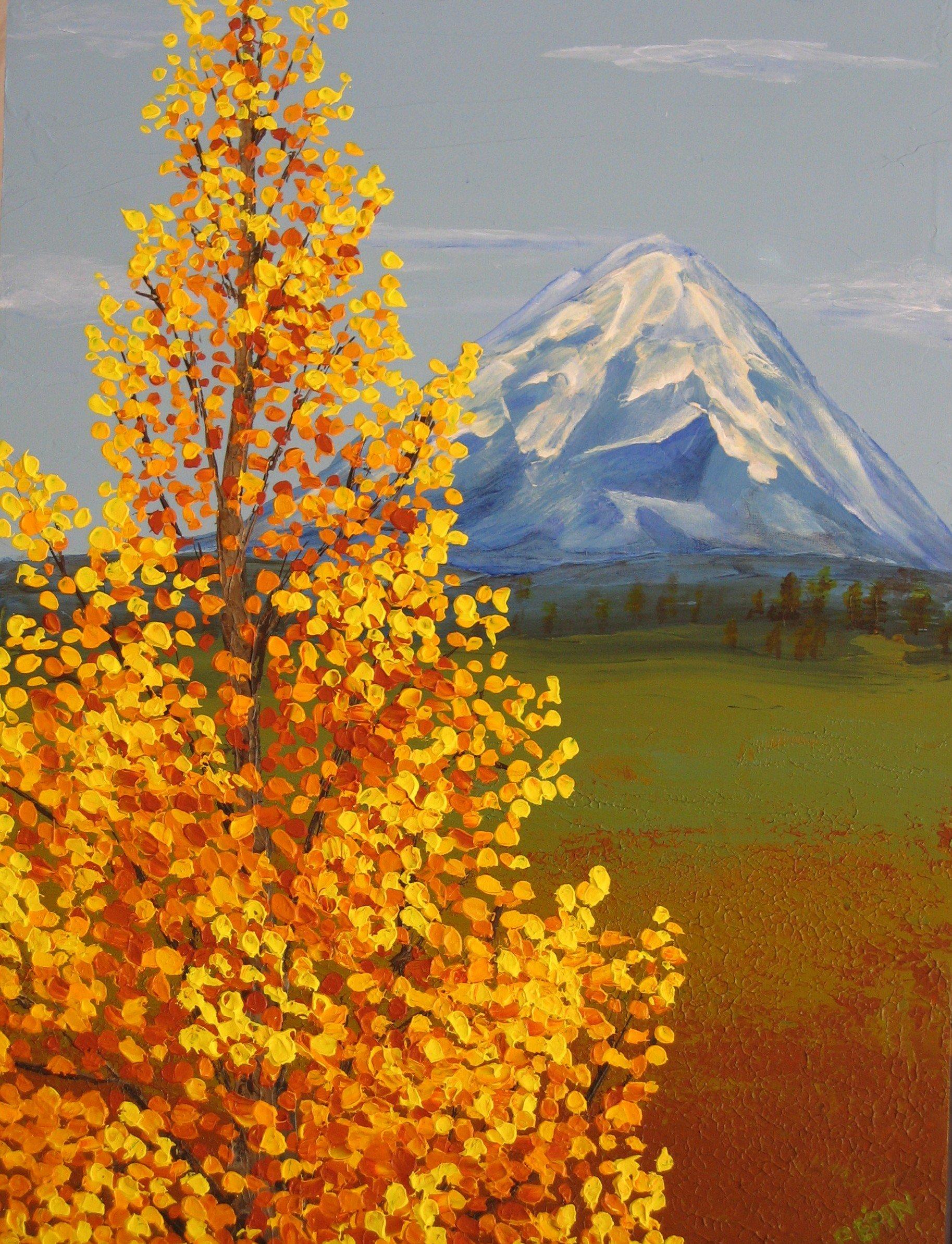 Mount Shasta in Autumn Painting