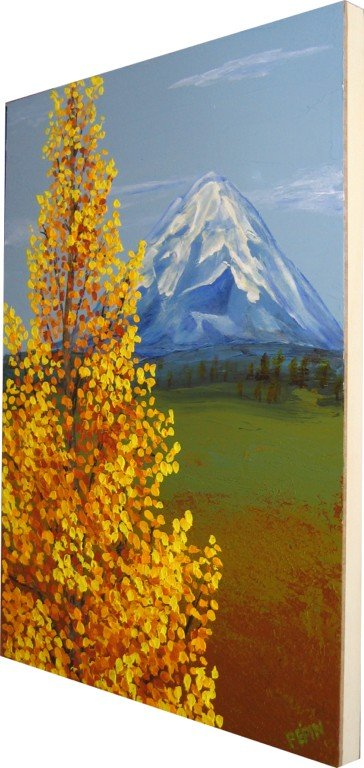 Sideview of Mt. Shasta in Autumn Painting